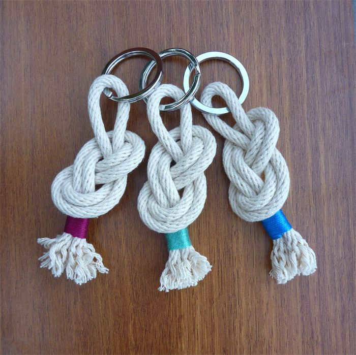 Water you wading for - Rope sailor knot wrapped in coloured cotton keyring | Nortique | madeit.com.au