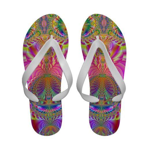 colorful fractal sandals