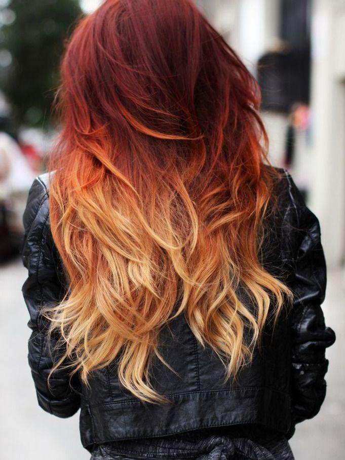 Couleur rouge cheveux blond