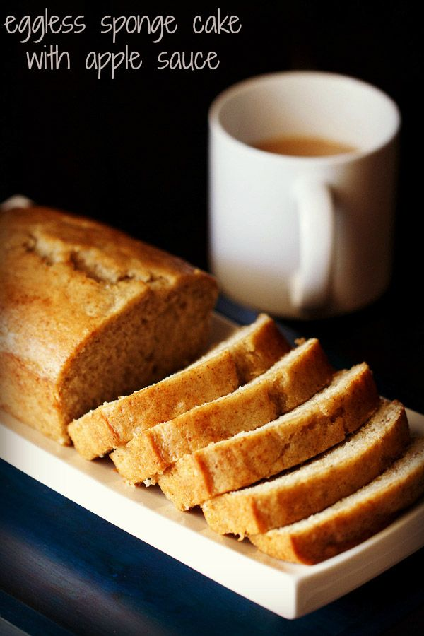 eggless sponge cake recipe with applesauce | vegan sponge cake