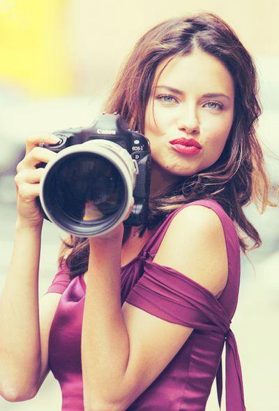 I love Adriana Lima...and Canon Cameras..