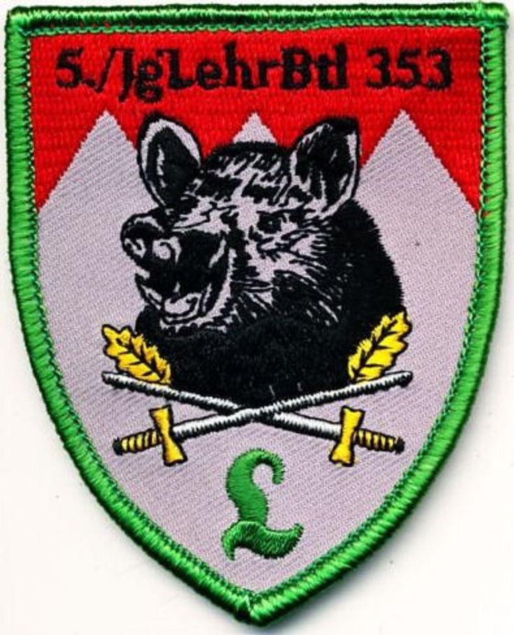 Aufnäher Bundeswehr 5./Jägerlehrbataillon 353 mit Klett HAMMELBURG