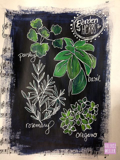 journal page, chalkboard art style...Valerie Weller
