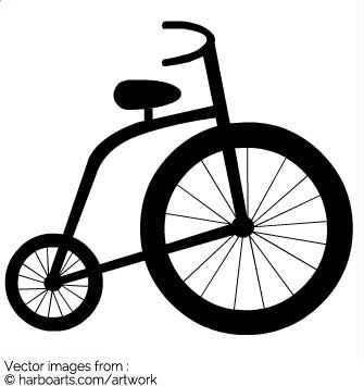 Kids Bicycle - Vector Graphic
