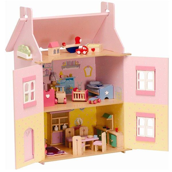 Casa de mu ecas con muebles sweeheart cottage de le toy - Casa munecas eurekakids ...