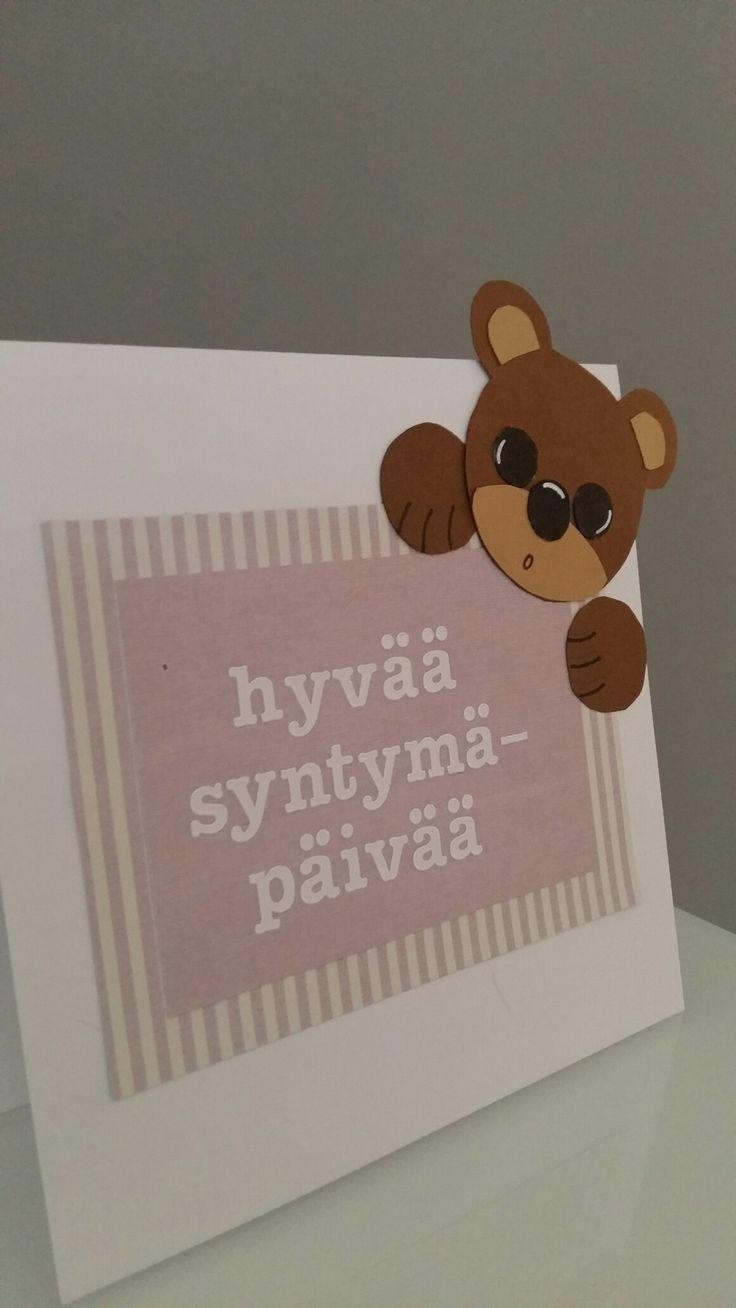 Syntymäpäiväkortti Nalle