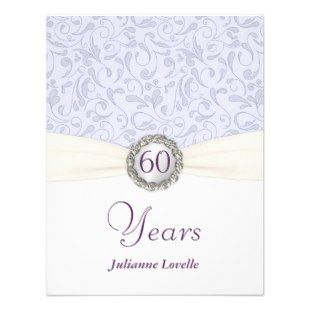name tags for 60 th bithday dinner party | 60th Birthday Party Invitations Lavender Damask >> Wedding Invitations