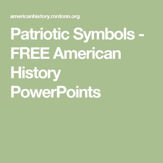 Patriotic Symbols - FREE American History PowerPoints