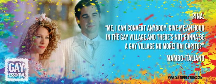 """Me, I can convert anybody.""  http://gay-themed-films.com/film-quotes/  #MovieQuotes #MamboItaliano"