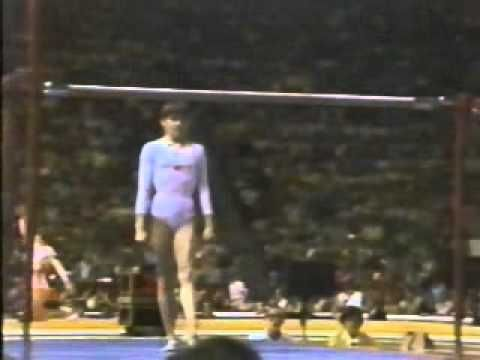 Perfect 10 session. Note that the electronic score cannot display 10.00 correctly as it never happened before. Nadia Comaneci