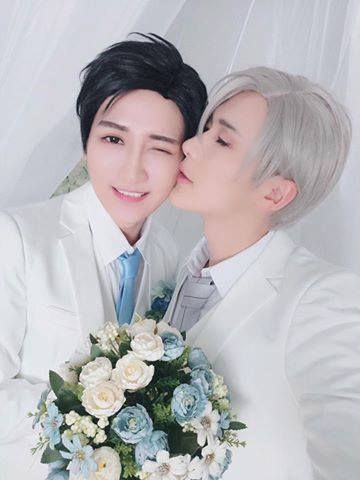 The wedding of Victor and Yuri  Cosplayed by Baozi & hana   #cosplay #victor #yuri #yurionice