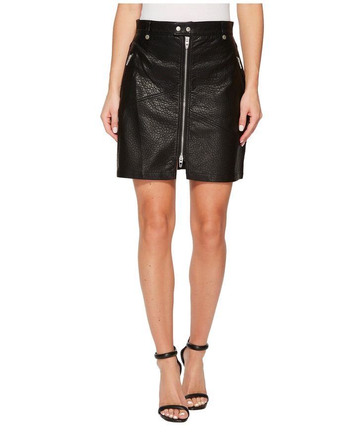 BLANKNYC Vegan Leather Zipper Detail Skirt in Sweet Talker. #blanknyc #cloth #