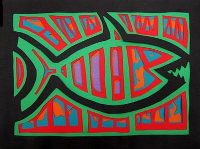 Upper School Art (Grades 7-12): Molas (Grade 7)-a paper cutting project