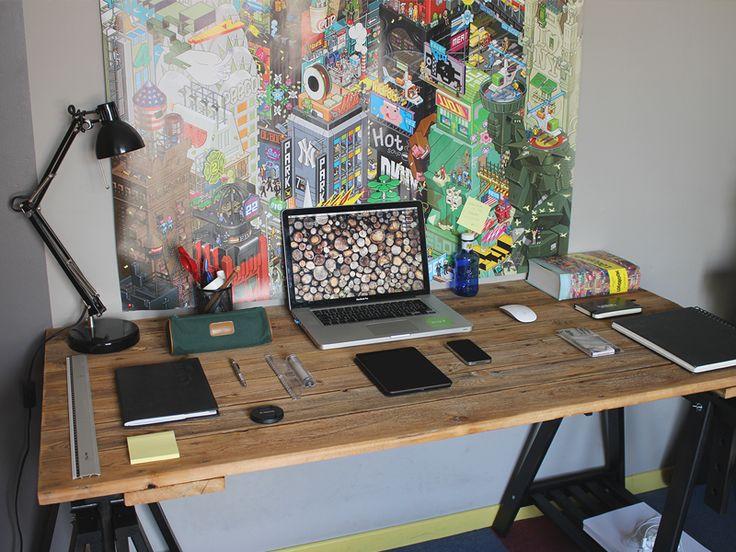 25 best ideas about mac desk on pinterest simple computer desk industrial style desk and. Black Bedroom Furniture Sets. Home Design Ideas