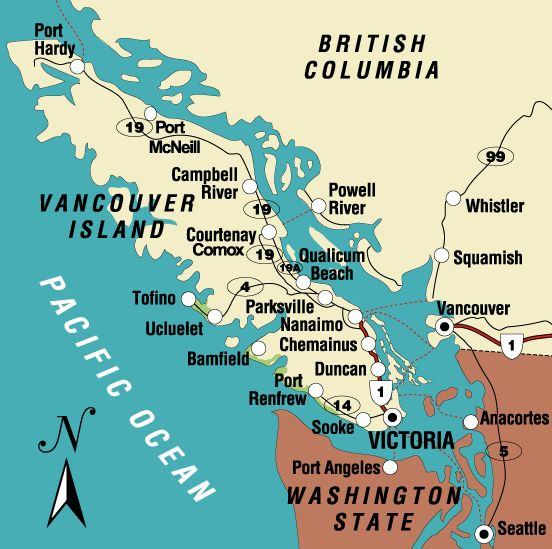 Vancouver Island is 460 kilometres (290 mi) in length and 80 kilometres (50 mi) in width at its widest point. Vancouver Island is the largest Pacific island east of New Zealand, the largest island on the western side of North America.