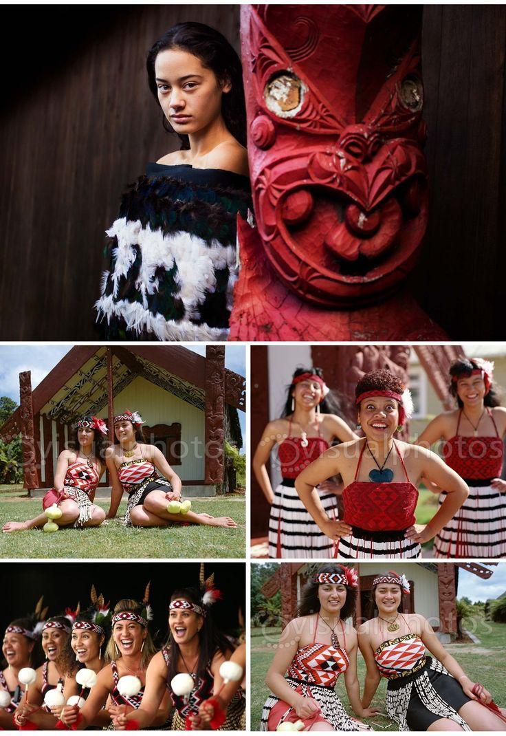 Maori Women Dressed in Traditional Maori Costume - Rotorua, North Island, New Zealand