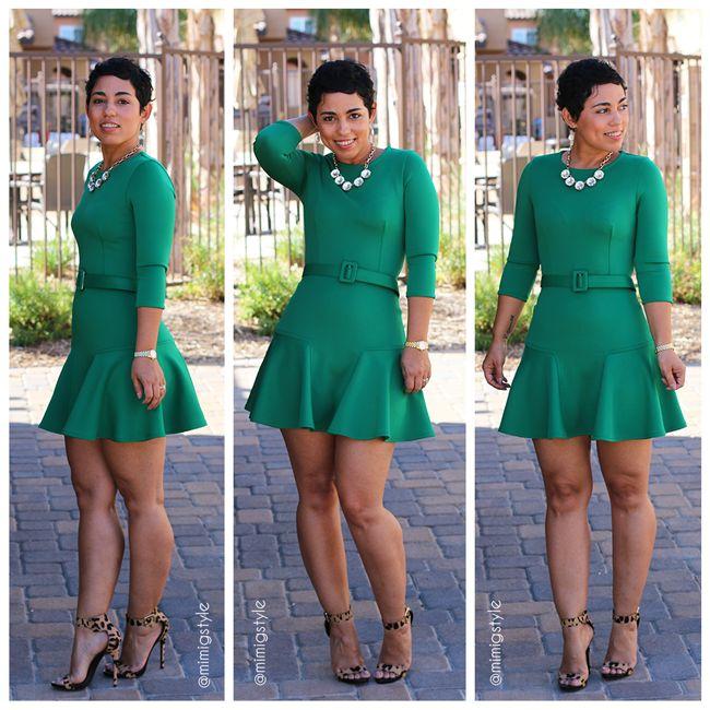 DIY Little Green Dress & Belt + Franken-pattern Info - Mimi G Style.  **Add 1 inch to bodice, athletic spandex