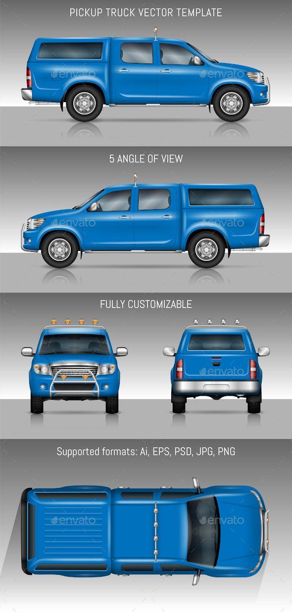 Blue Truck Blue Branding Mockups Trucks
