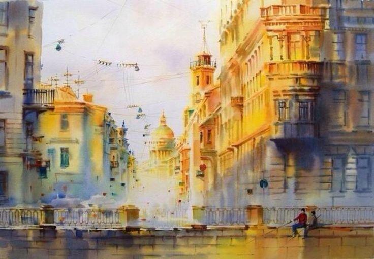 St. Petersburg_Watercolor by Olga Litvinenko