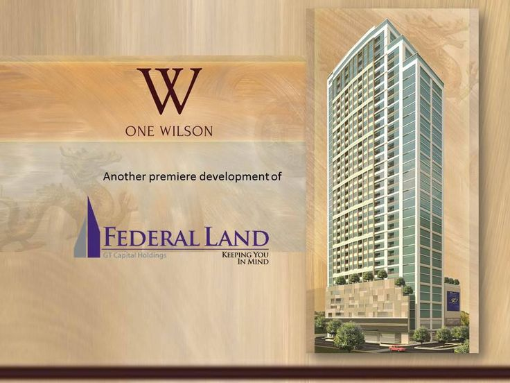 One of Federal Land Inc.'s soon to rise property, it's your home at the center of this luxurious hub. Enjoy the peace of mind that comes from the convenience of living closely to three of Manila's prestigious schools--Xavier School, Immaculate Conception Academy and La Salle Greenhills--where students grow up to be some of the country's finest leaders and businessmen & if it's chic couture you're looking for, Greenhills Shopping Center is right across your home.