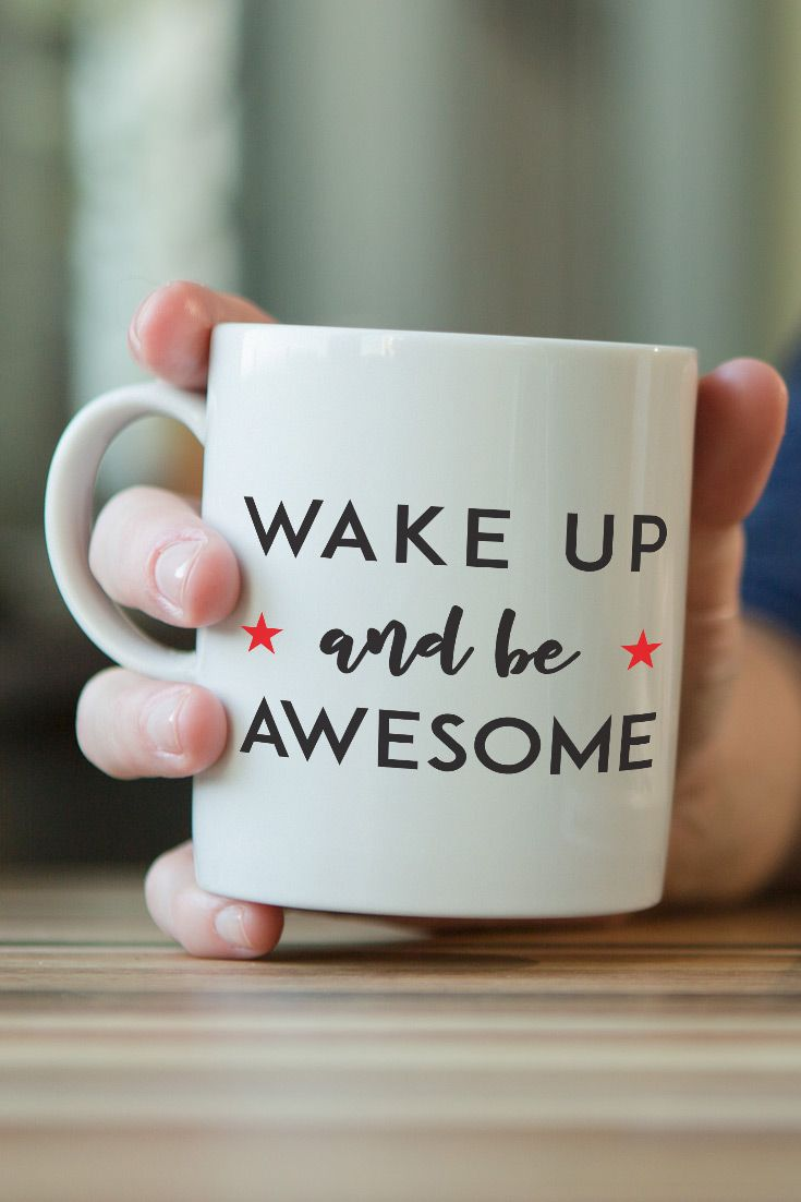 Coffee Mug - Wake Up and Be Awesome - https://www.sunfrog.com/126482714-758765783.html?68704 - Only $6.99!