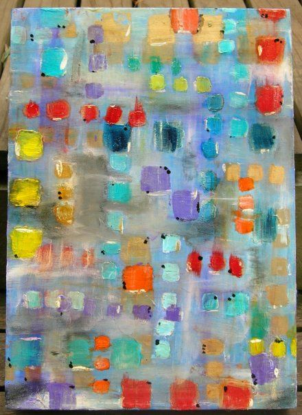 CUBED - acrylic abstract by LEESA #squares #art #rainbow #patterns #painting #abstract #cool #colorful