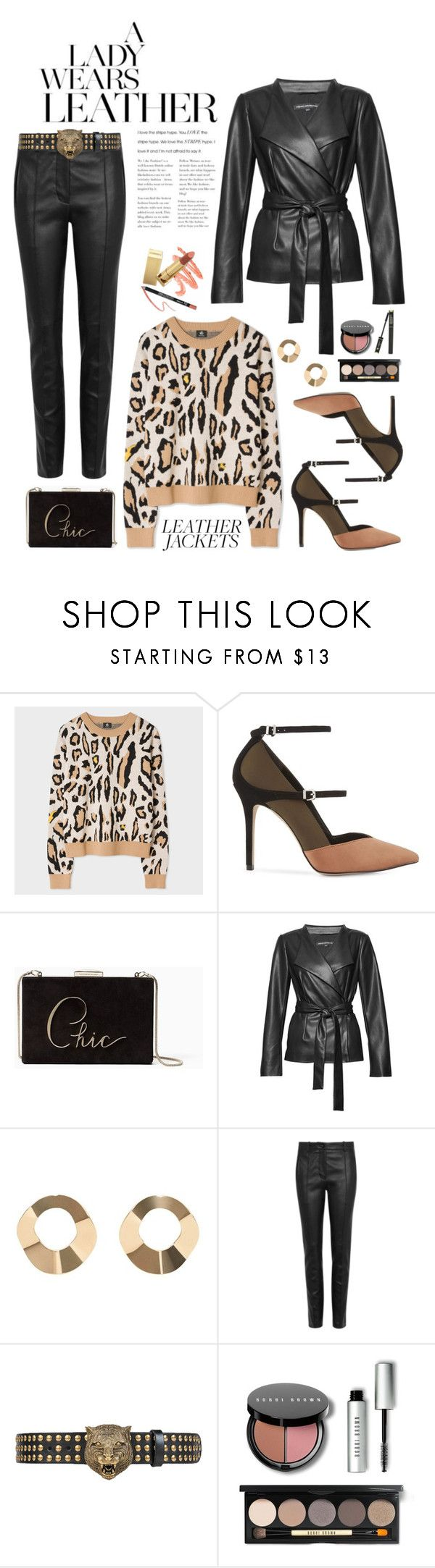 """""""Cool-Girl Style: Leather Jackets"""" by shortyluv718 ❤ liked on Polyvore featuring PS Paul Smith, Reiss, Kate Spade, French Connection, MANGO, Valentino, Gucci, Bobbi Brown Cosmetics, Lancôme and leatherjackets"""