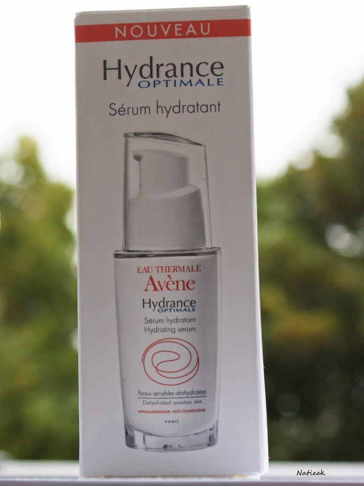 Le petit monde de Natieak: Hydrance Optimal: Sérum hydratant, parfait pour les peaux qui ont soif #avène #sérum #hydratation #pompe #flacon #tiraillement #soin # visage #hydrance #thermale #optimale #eau #hydrophile #liposome