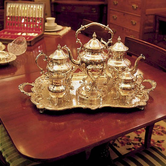 Silver Tea Set & 182 best Vintage Sterling and Silver Plate images on Pinterest ...