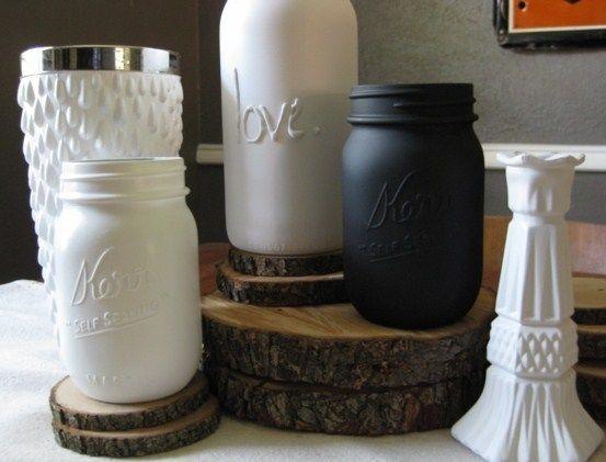 17 meilleures id es propos de peindre des bocaux de verre sur pinterest bocaux peints. Black Bedroom Furniture Sets. Home Design Ideas