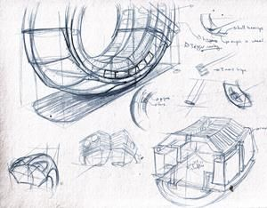 Architecture Concept Drawings - Perspective Bike Architecture