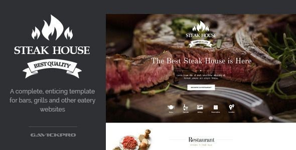 Steak House Food Restaurant WordPress Theme