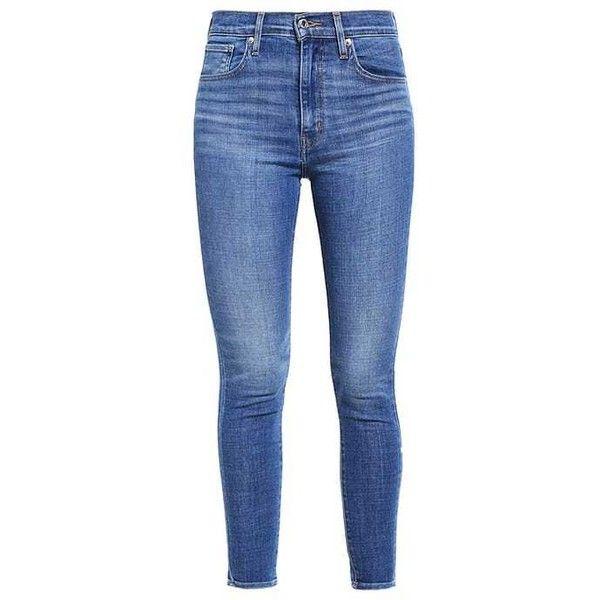 Levi's MILE HIGH SUPER SKINNY ($105) ❤ liked on Polyvore featuring jeans, levi jeans, levi skinny jeans, blue jeans, skinny fit jeans and skinny leg jeans