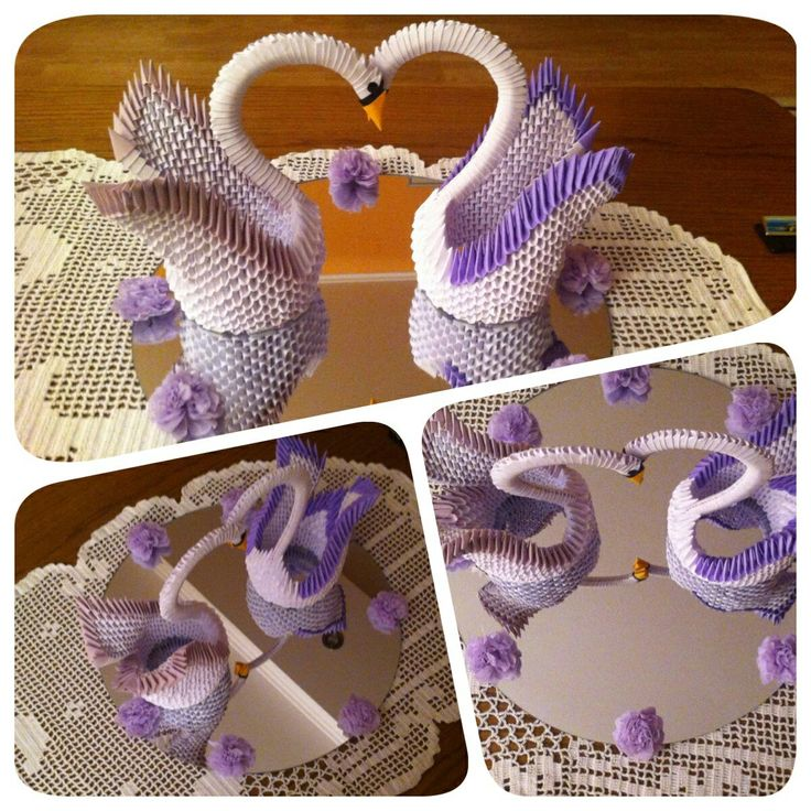 3D origami swans