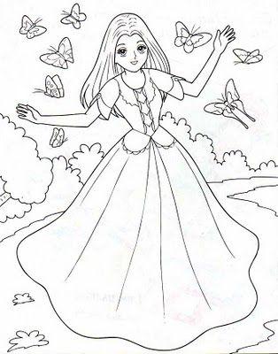 DESENHOS PARA PINTAR: Princesa.