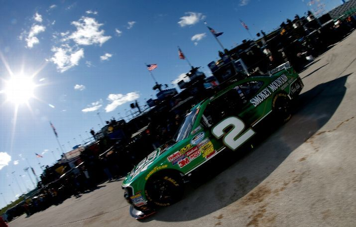 #BrianScott, driver of the #2 Smokey Mountain Snuff #Chevrolet, drives in the garage area during practice for the #NASCAR #NationwideSeries Kansas Lottery 300   Photo by Sean Gardner/Getty Images   #BrianScottNASCAR #ESPN #RichardChildressRacing
