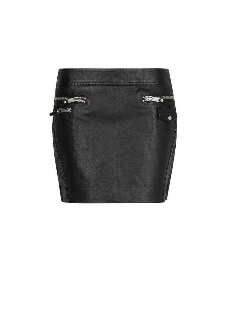 MANGO - CLOTHING - Skirts - Leather biker miniskirt