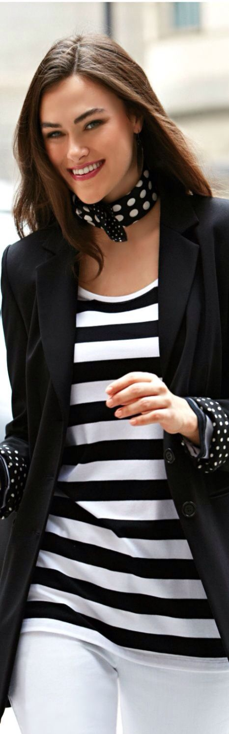 Minus the polka dots for less movement. Change them to solid black or maybe red for a bold statement.