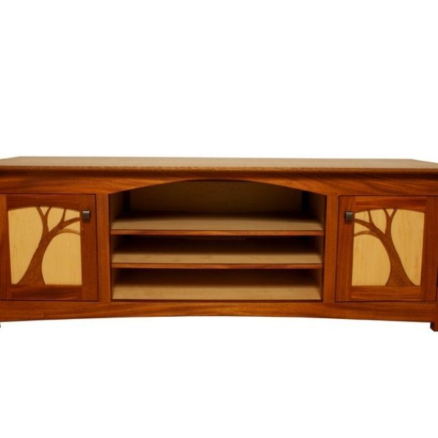 recycled mahogany and maple cabinet