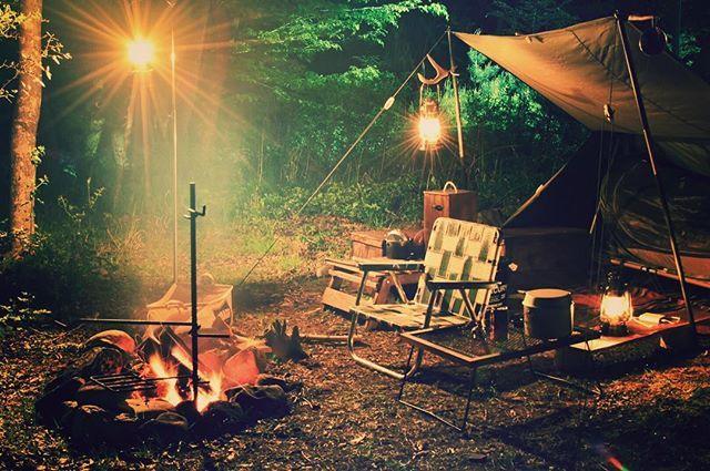#ソロキャンプ #solocamping #キャンプ #パップテント #焚き火#鹿の角#鹿角#ランタンハンガー #米軍テント #野営 #焚き火