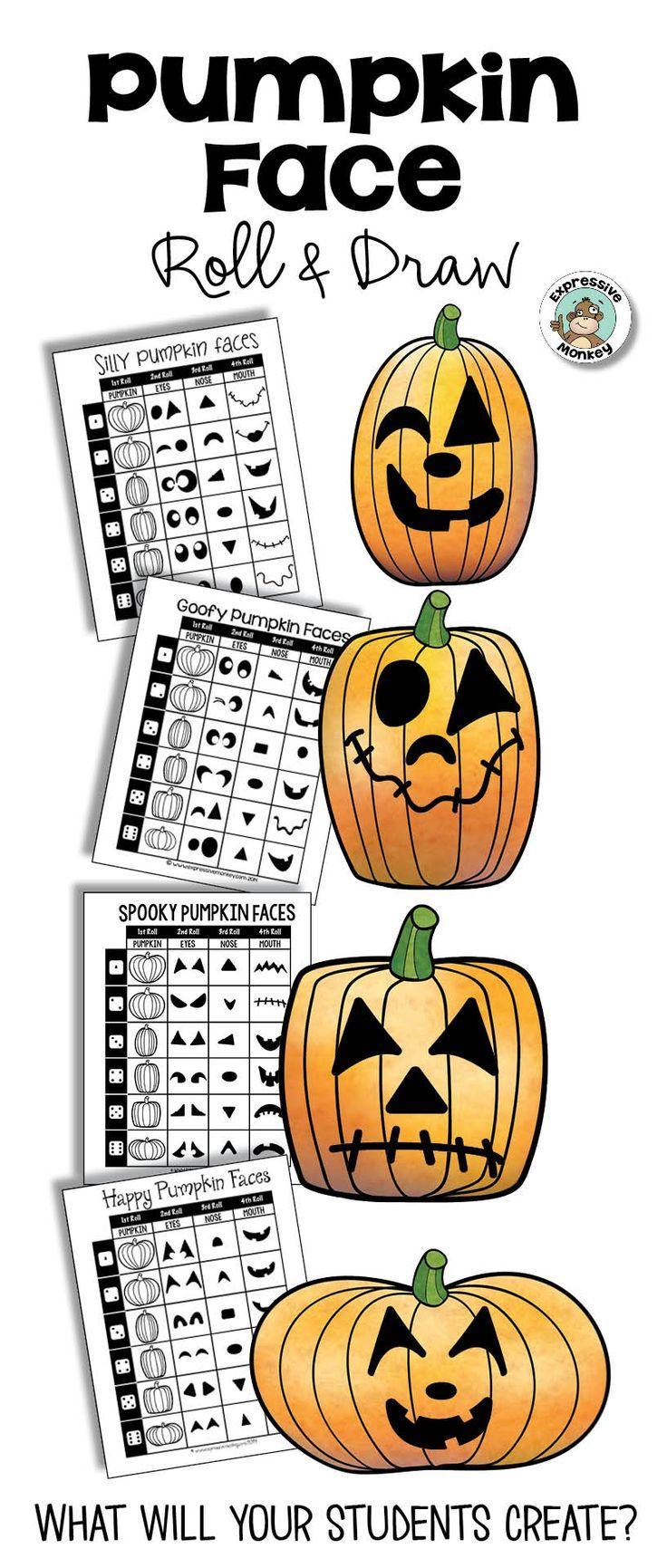 Wa walking dead pumpkin stencil - Pumpkin Face Roll Draw Create Silly Happy Spooky Or Goofy Jack