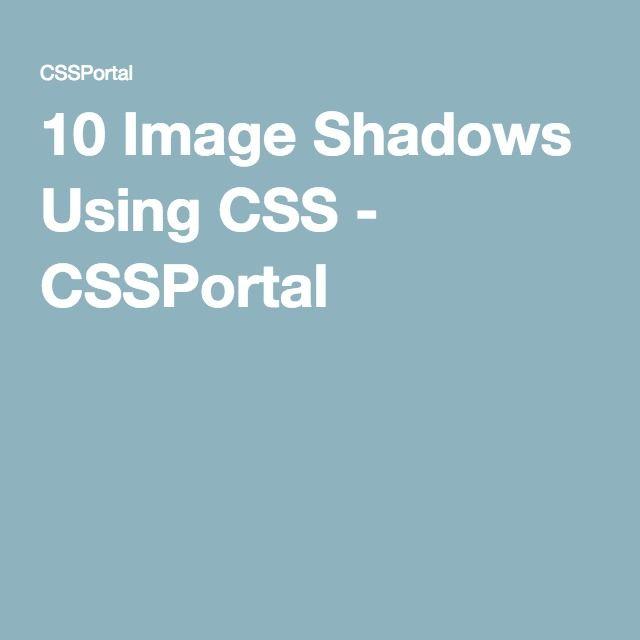10 Image Shadows Using CSS - CSSPortal