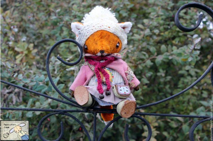 Купить Осень - рыжий, лиса, лисица тедди, теддики, теддист, мишки тедди, винтаж, осень