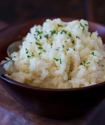 "Cauliflower Mashed ""Potatoes""  -see Cauliflower mashed potatoes with Mushroom Gravy in Healing Path"