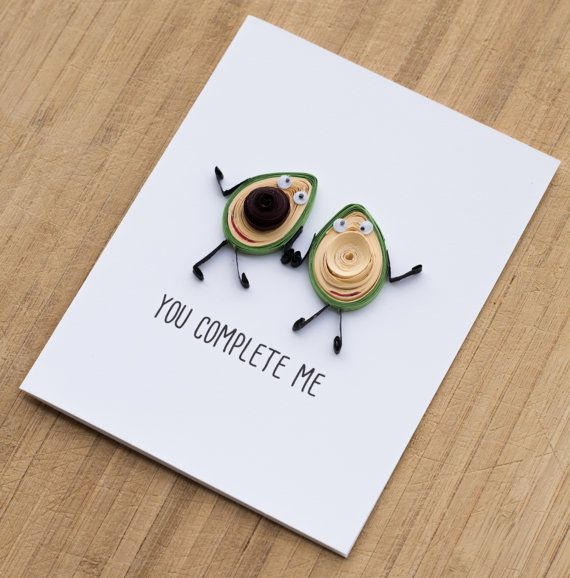 Funny Anniversary Card -Card for Boyfriend -Card for Husband -I love you card -Funny Valentine Card -Avocado couples Card -Card for Him, Her | Kind of creepy looking, actually