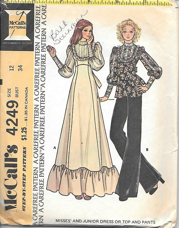 183 best 70\'s Style and Sewing Patterns images on Pinterest