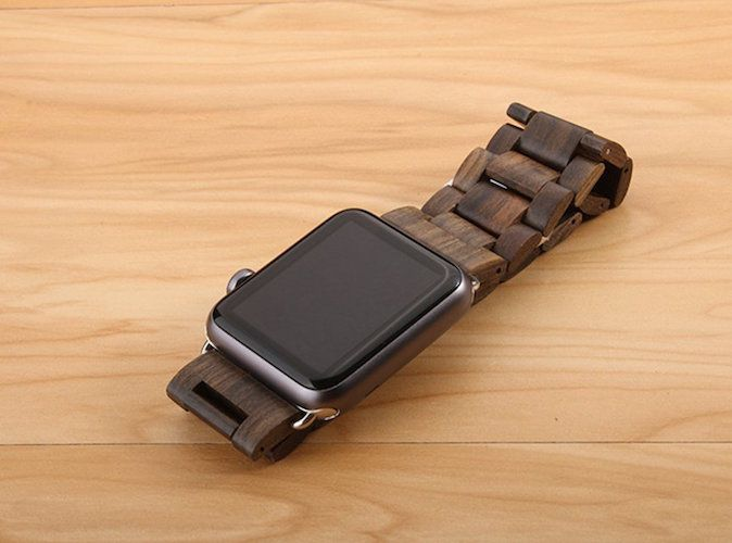 Ensure your smartwatch stays put with the Wooden Apple Watch Band from FistCase.