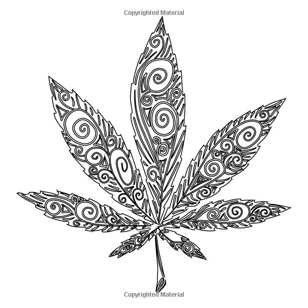 amazoncom the cannabis collection coloring book for adults with quotes little - Cannabis Coloring Book