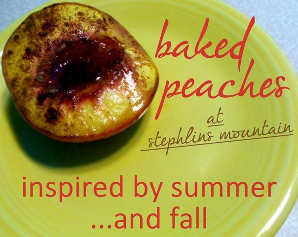 Stephlin's Mountain: Baked Peaches: a Summer–Fall Recipe in Pictures