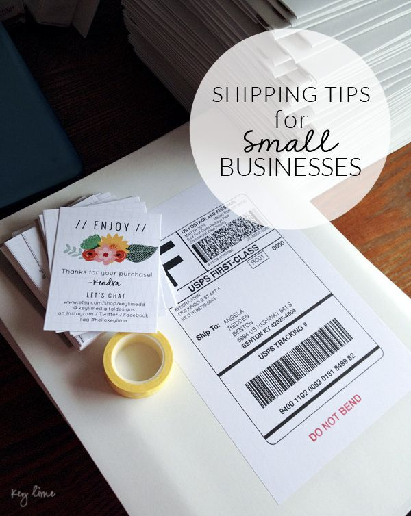 Shipping Tips for Small Businesses. I really like the business cards to pop in with online purchases showing the thanks as well as all the ways to keep in touch.